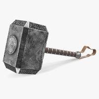 mjolnir hammer thor 3D