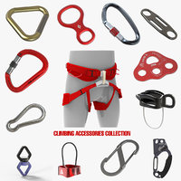 climbing accessories rappel harness 3D model
