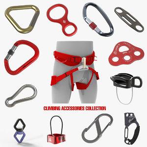 climbing accessories rappel harness 3D model