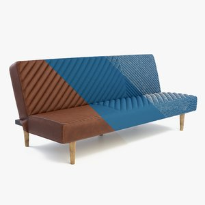 futon leather fabric 3D model