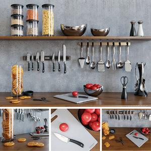 Kitchen Set 3d Models For Download Turbosquid