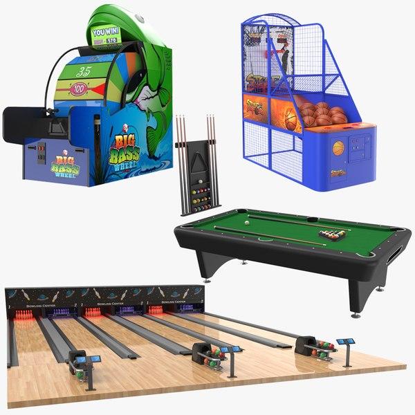 3D real indoor games model