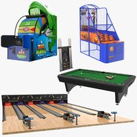 3D real indoor games model