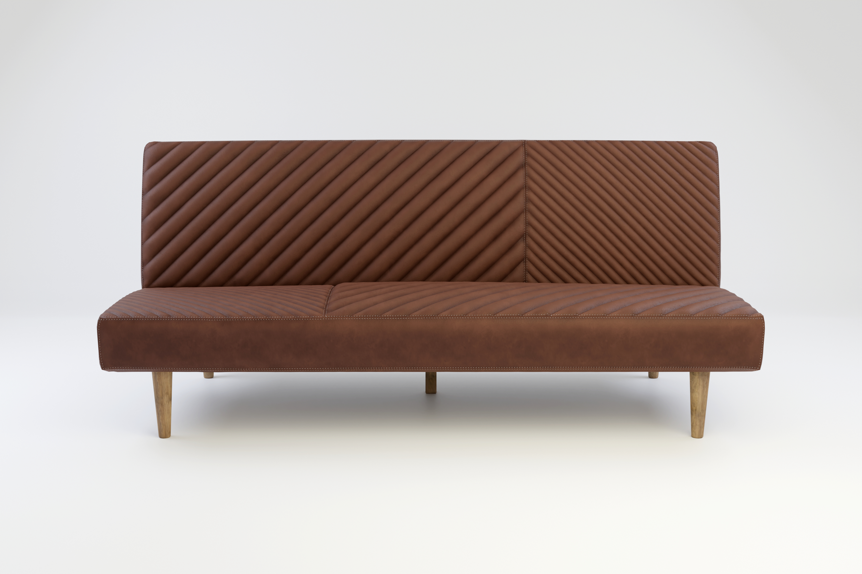 Futon Sofa Leder und Stoff