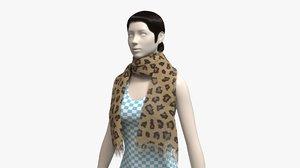 scarf shawl cloth 3D model