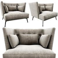 3D armchair maxdivani giselle model