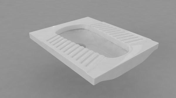 bathroom toilets 3D model