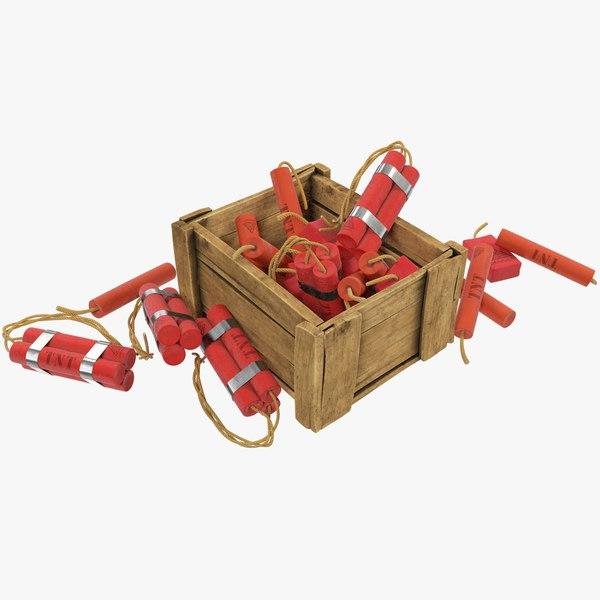 3D tnt box