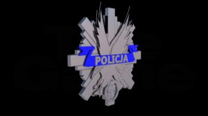 3D polish anti-terrorist police badge