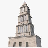 3D masonic memorial tower