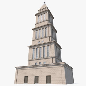 3D masonic memorial tower
