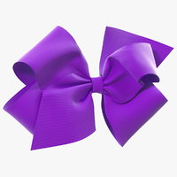 purple hair bow 3D model