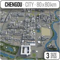 3D city chengdu surrounding - model