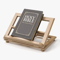 realistic holy bible book 3D model