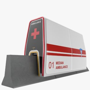 median ambulance 3D model