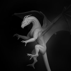 dragon creature monster animal character 3D