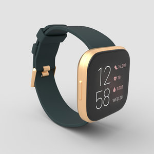 3D fitbit versa 2 smartwatch model