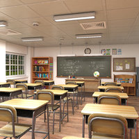 classroom school furniture 3D model