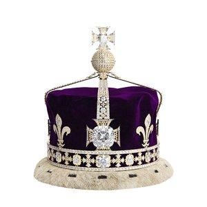 3D queen elizabeth mother s crown model