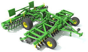 3D disc harrow model