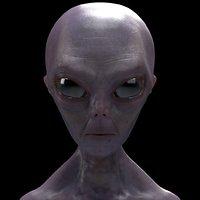 grey alien 3D model
