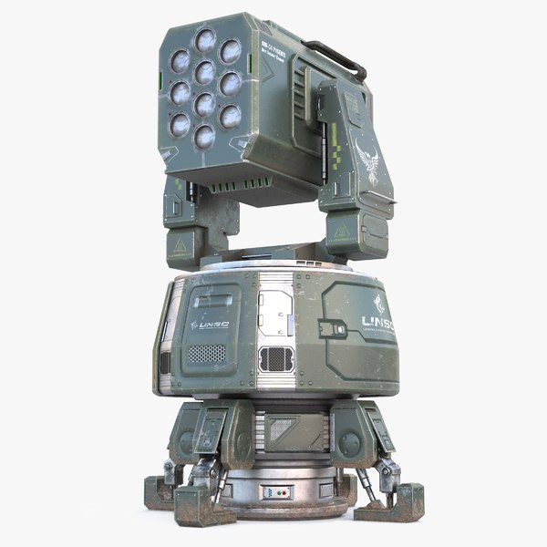 sci-fi anti-aircraft pbr 3D model