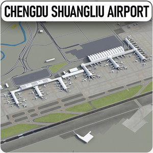 chengdu shuangliu international airport 3D