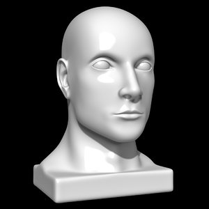 3D model mannequin head man