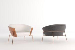 3D model saccaro virtus armchair