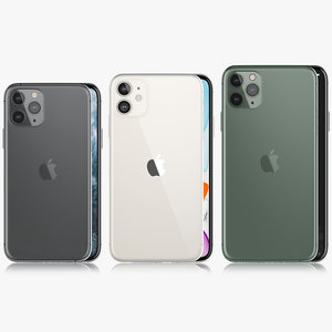 3D apple iphone xi xir model