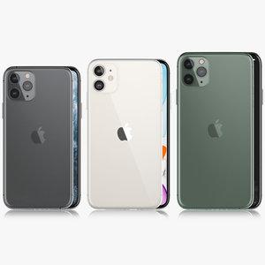 3D apple iphone xi xir model