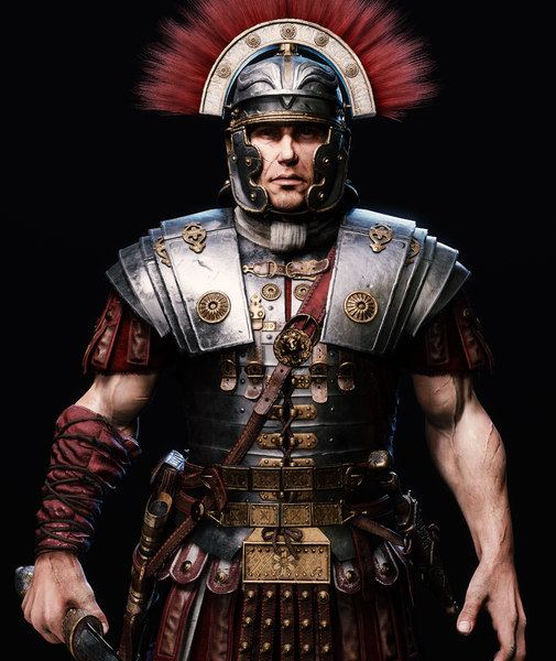 roman centurion armor characters 3D