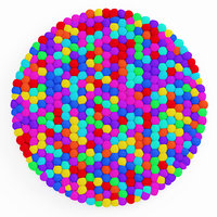 carpet soft colored balls 3D model
