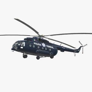 mi-17 mexican police mi 3D model