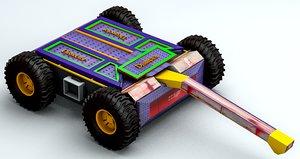 3D model robot fight