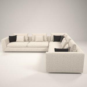 3D broms modern sofa model