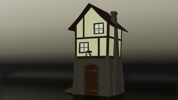 3D stylized building