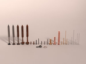 screws nails 3D