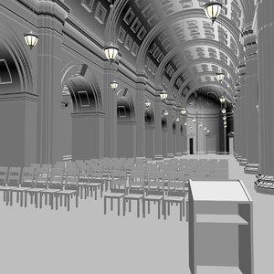 hall01 interior 3D model
