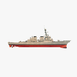 uss john paul jones 3D model