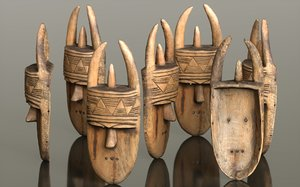 3D african mask