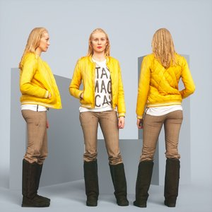 realistic blonde jacket 3D model