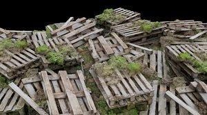 3D model rubble scene
