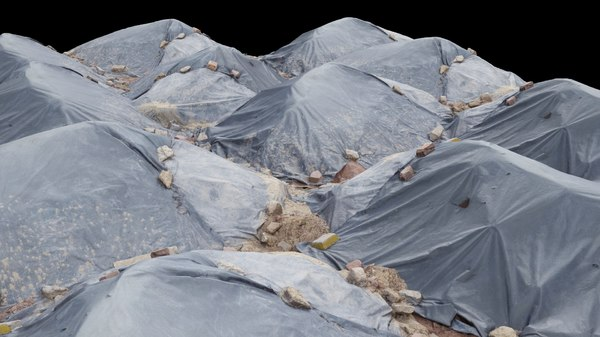 3D rubble scene