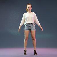 girl human woman 3D model