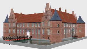 schloss herten castle germany model