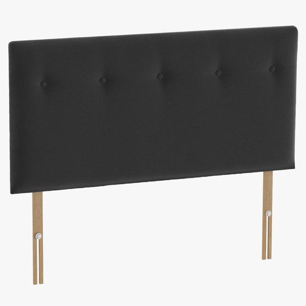 3D headboard 08 charcoal