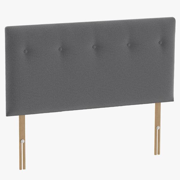 headboard 08 grey 3D model