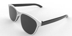 sunglasses plastic 3D model