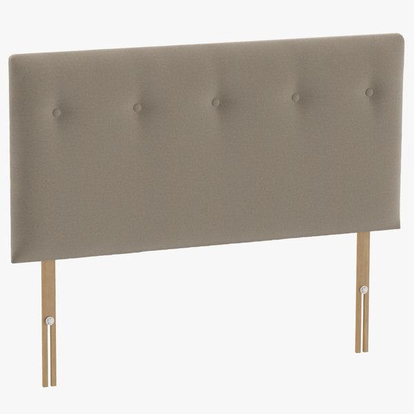 3D model headboard 08 oatmeal